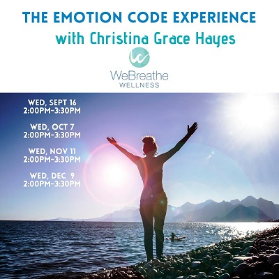 THE EMOTION CODE EXPERIENCE SEPT-DEC, 2020